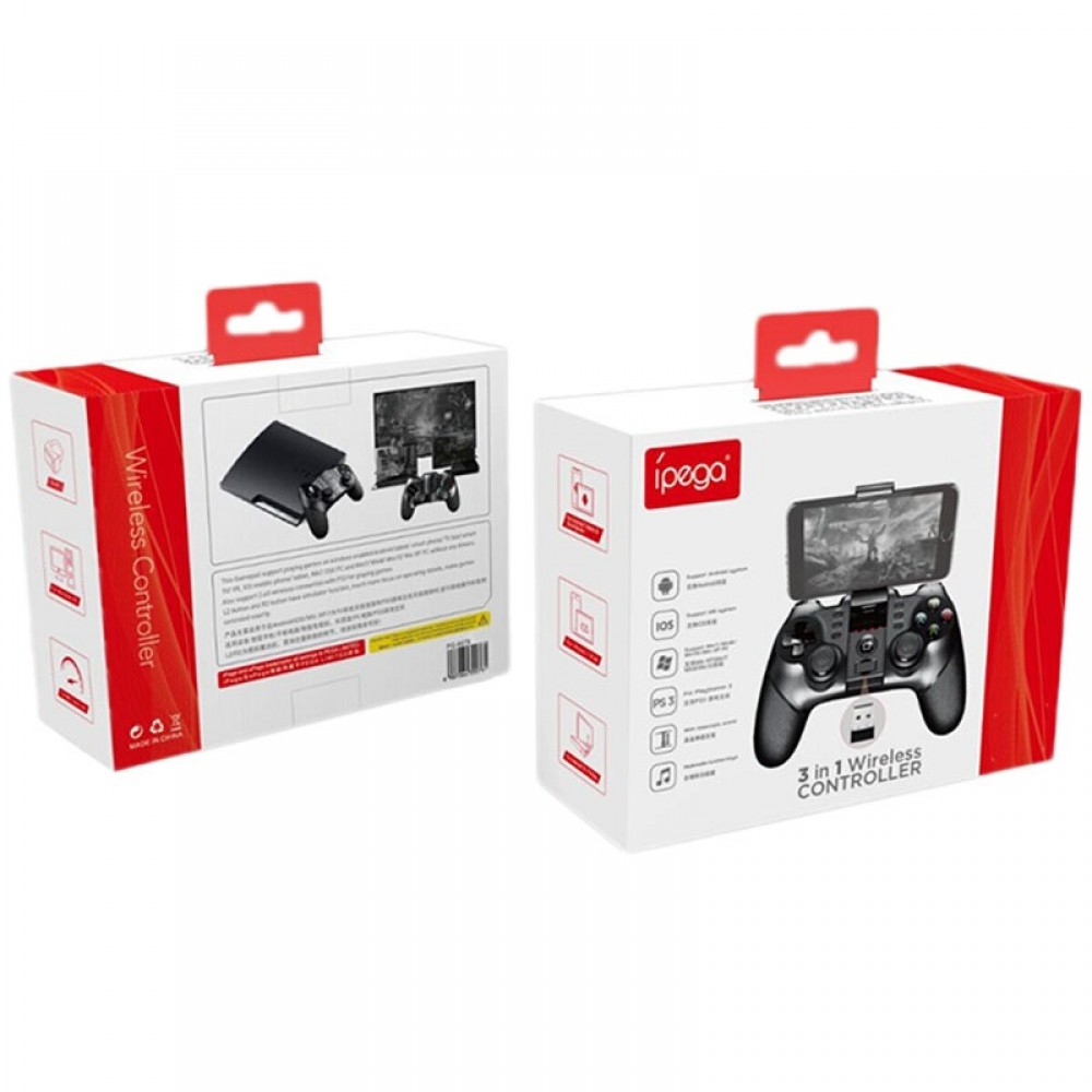 Ipega 9076 3 in 1 Bluetooth, 2 4G Wireless Gamepad Bluetooth for  iPhone/samsung/HTC/MOTO / Android TV Box, Android TV, PC