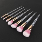 ΣΕΤ ΠΙΝΕΛΑ ΜΑΚΙΓΙΑΖ - V COLOR PROFESSIONAL WOMEN MAKEUP BRUSH SET 7 ΤΕΜΑΧΙΩΝ (PINK/GOLD/CLEAR)