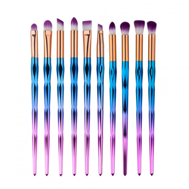 ΣΕΤ ΠΙΝΕΛΑ ΜΑΚΙΓΙΑΖ - V COLOR PROFESSIONAL WOMEN MAKEUP BRUSH SET 10 ΤΕΜΑΧΙΩΝ (GOLD/BLUE/RED)