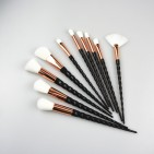 ΣΕΤ ΠΙΝΕΛΑ ΜΑΚΙΓΙΑΖ - V FASHION PROFESSIONAL WOMEN MAKEUP BRUSH SET 10 ΤΕΜΑΧΙΩΝ (WHITE/BRONZE/BLACK)