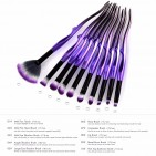 ΣΕΤ ΠΙΝΕΛΑ ΜΑΚΙΓΙΑΖ - V FASHION PROFESSIONAL WOMEN MAKEUP BRUSH SET 10 ΤΕΜΑΧΙΩΝ (BLACK/PURPLE)