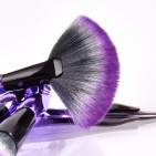 ΣΕΤ ΠΙΝΕΛΑ ΜΑΚΙΓΙΑΖ - V FASHION PROFESSIONAL WOMEN MAKEUP BRUSH SET 8 ΤΕΜΑΧΙΩΝ (BLACK/PURPLE)