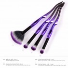 ΣΕΤ ΠΙΝΕΛΑ ΜΑΚΙΓΙΑΖ - V FASHION PROFESSIONAL WOMEN MAKEUP BRUSH SET 4 ΤΕΜΑΧΙΩΝ (BLACK/PURPLE)