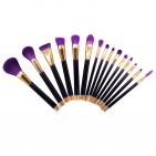 ΣΕΤ ΠΙΝΕΛΑ ΜΑΚΙΓΙΑΖ - VANDER LIFE PROFESSIONAL WOMEN MAKEUP BRUSH SET 15 ΤΕΜΑΧΙΩΝ (PURPLE/GOLDBLACK)