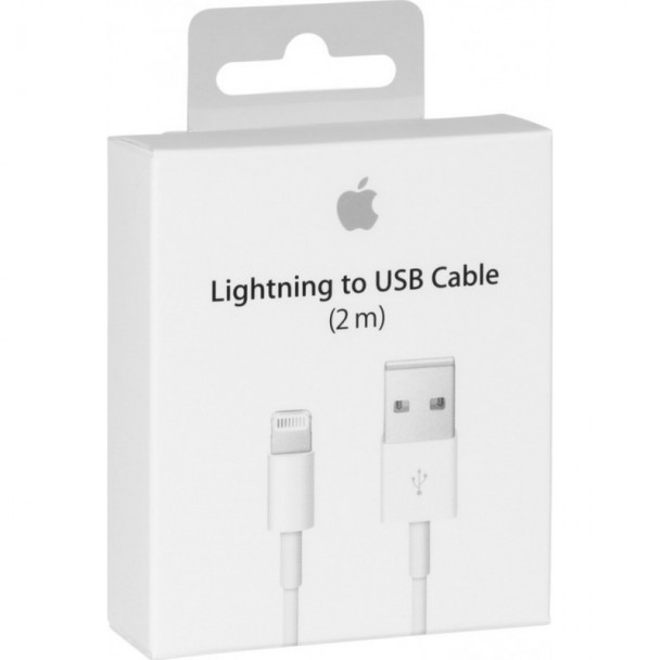 APPLE CABLE USB TO LIGHTNING WHITE 2M RETAIL (ΣΕ ΣΥΣΚΕΥΣΙΑ) (MD819ΖΜ/Α)