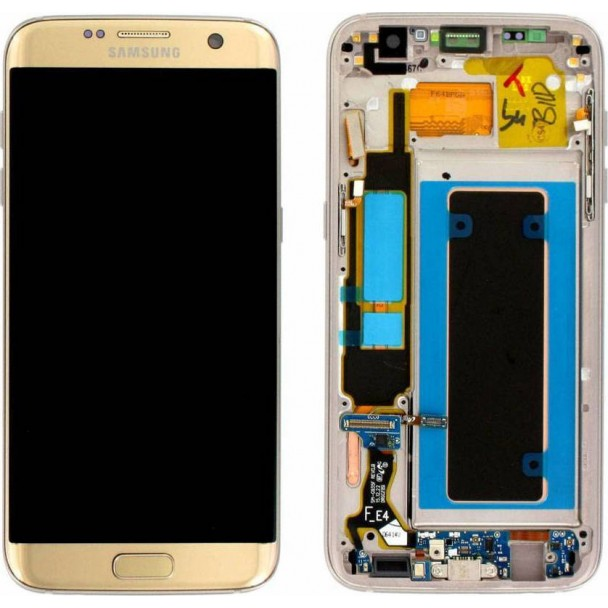 ΟΘΟΝΗ SAMSUNG GALAXY S7 EDGE SM-G935F GOLD LCD & DIGITIZER ΓΝΗΣΙΑ (GH97-18533)