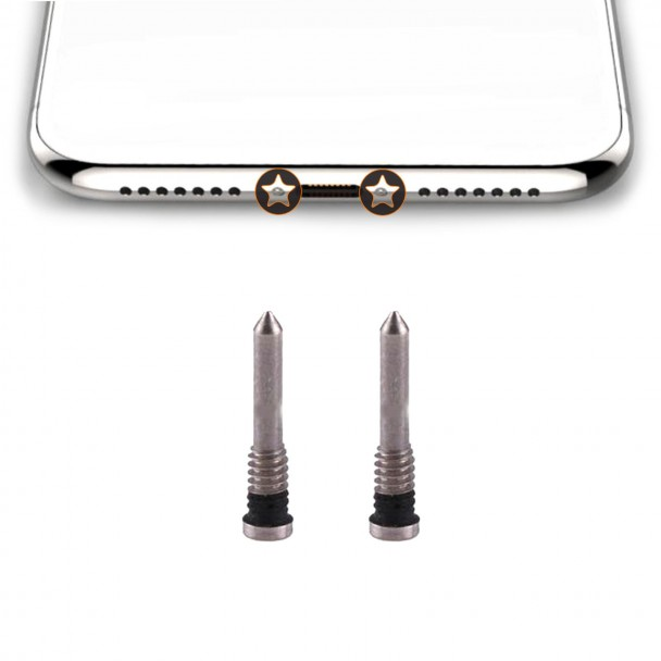 Iphone X bottom screw silver
